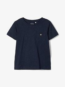Name it Kids Enfärgad T-shirt Marinblå