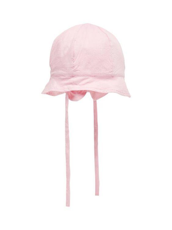 Solhatt med 50+ UV skydd från Name it med knytband och extra skydd vi öronen. Material: 100%   Färg: Rosa