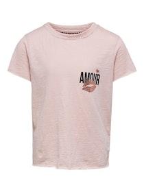 KIDS ONLY Cool T-shirt i Ekologisk Bomull Rosa