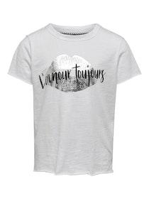 KIDS ONLY Cool T-shirt i Ekologisk Bomull Vit