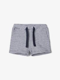 Name it Baby Shorts i Ekologisk Bomull Marinblå