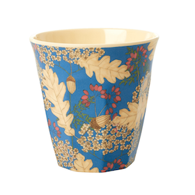 Rice Mugg i Melamin Autumn and Acorns Print