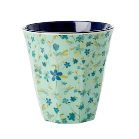 Rice Mugg i Melamin Blue Floral Print