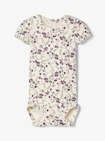 Name it Baby Blommig Body i Ekologisk Bomull