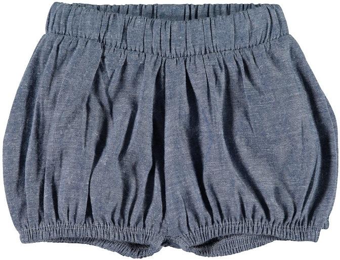 Söta och mjuka shorts från Name it med resår i midjan och i bensluten. Material: 100% Bomull  Färg: Blå