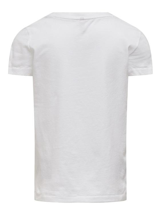 Trendig T-shirt i ekologisk bomull från KIDS ONLY med rund hals och ett tryck på fram. Material: 100% Ekologisk Bomull  Färg: Vit  Ekologisk Bomull odlas utan användning av skadliga bekämpningsmedel o