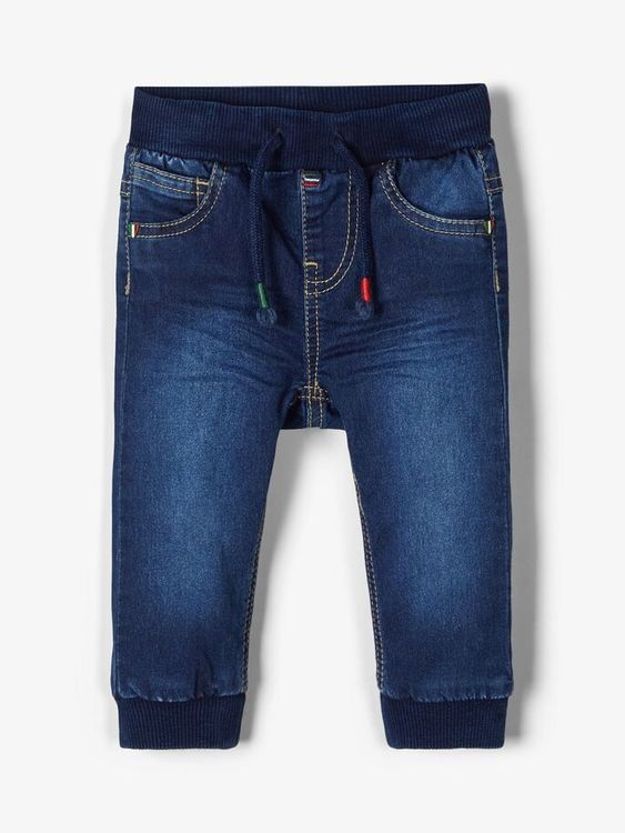Name it Baby Jeans i Ekologisk Bomull Mörkblå Denim