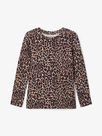 Name it Mini Leopardmönstrad Långärmad T-shirt i Ekologisk Bomull