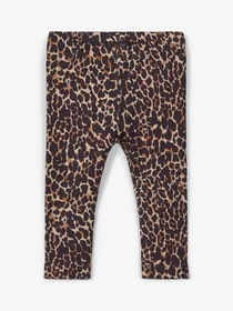 Name it Mini Leopardmönstrad Leggings i Ekologisk Bomull