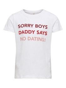 Kids Only T-Shirt Med Tryck i Ekologisk Bomull