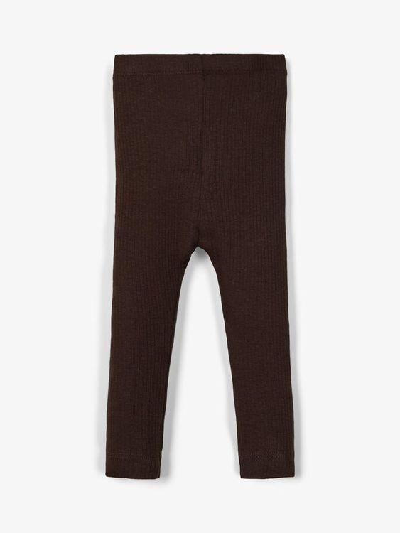 Name it Baby Ribbade Leggings i Ekologisk Bomull Mörkbrun
