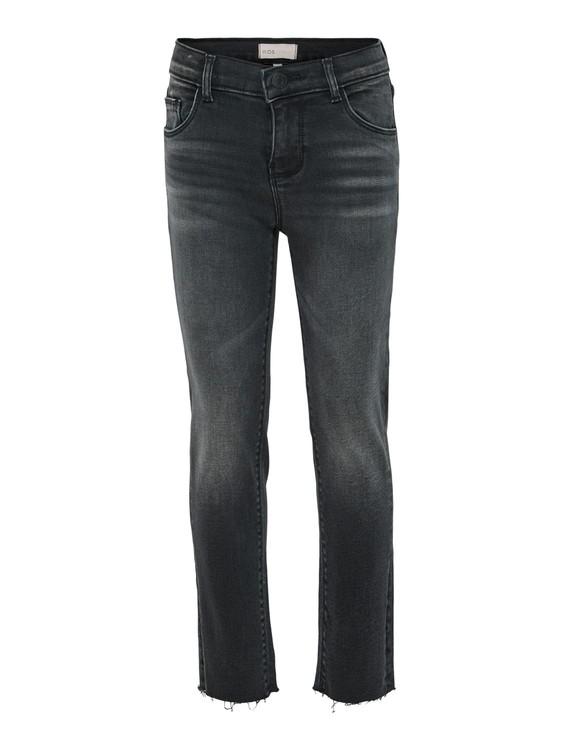 Trendiga stretchjeans i en straight fit från KIDS ONLY med hög justerbar midja och ankellånga ben. Jeansen är en fem fickor (två bak och tre fram) och har bälteshällor. Material: 98% Bomull och 2% Ela