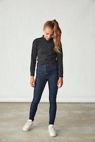 LMTD Teens Pil Hw Skinny Jeans i Ekologisk Bomull Mörkblå Denim
