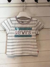 Levi´s Randig T-shirt med Paljetter