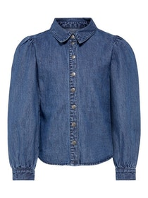 KIDS ONLY Denim Blus Med Puffärm