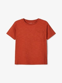 Name it Kids T-shirt i Ekologisk Bomull Rost