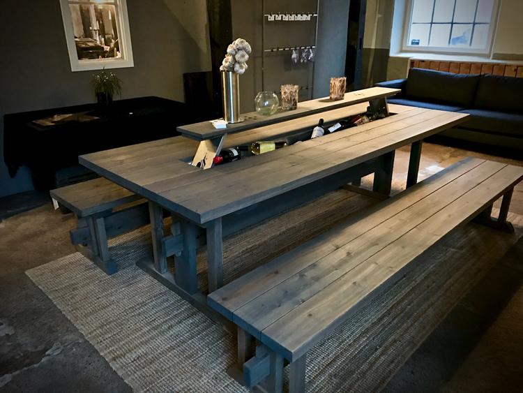 Midsommarbordet Modell M17, stort utebord ink 2st bänkar