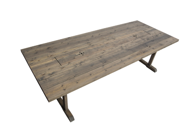 Handgjordt matbord i trä
