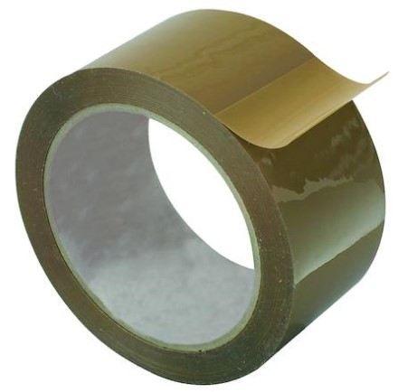 Packtejp PR PVC tystavrullad 50mmx66m