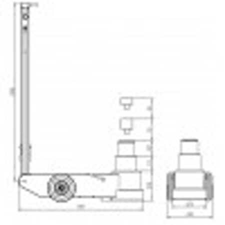 LUFTHYDRAULISK DOMKRAFT S80-2J