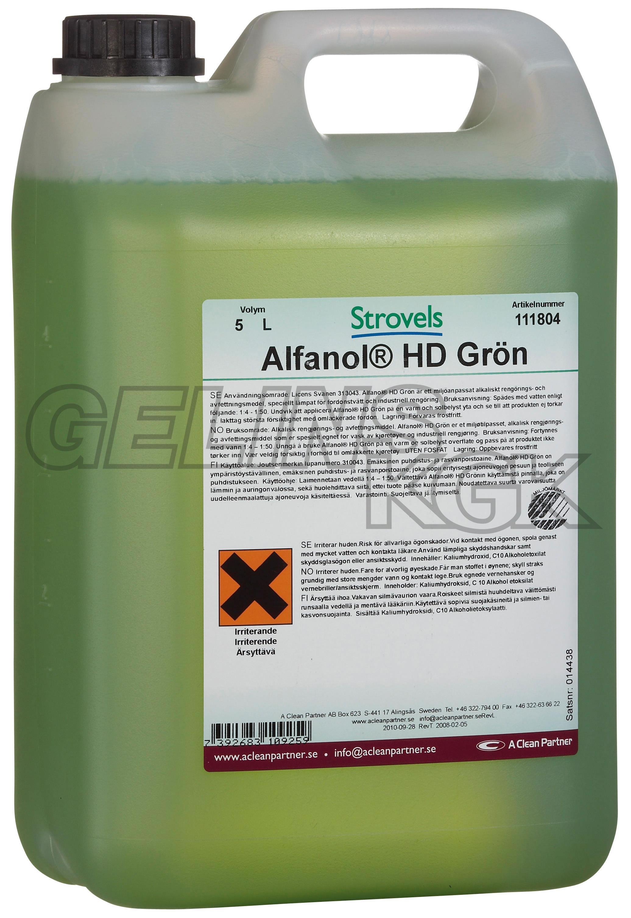 ALFANOL HD GRÖN 5 L