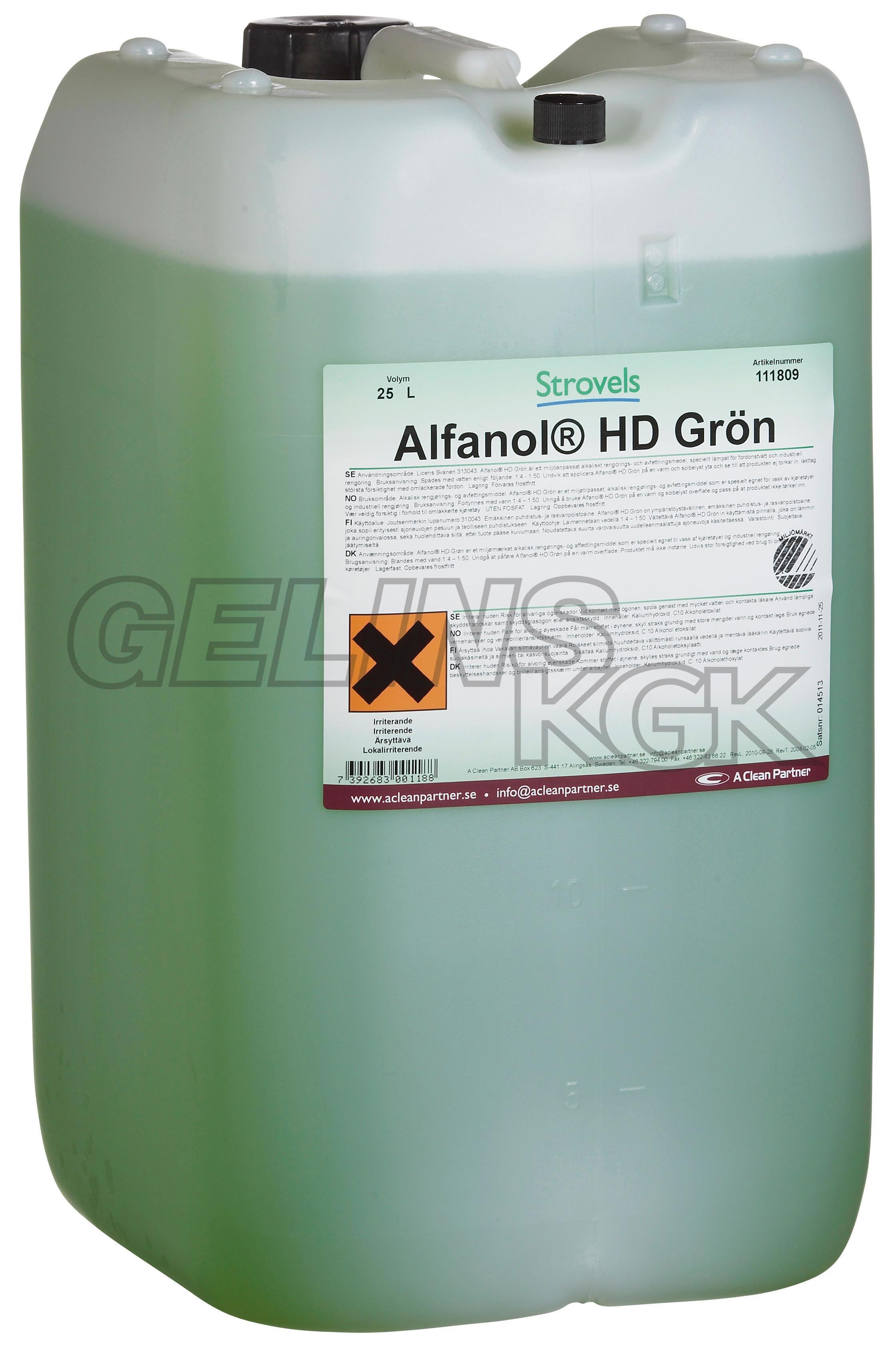 ALFANOL HD GRÖN 25 L