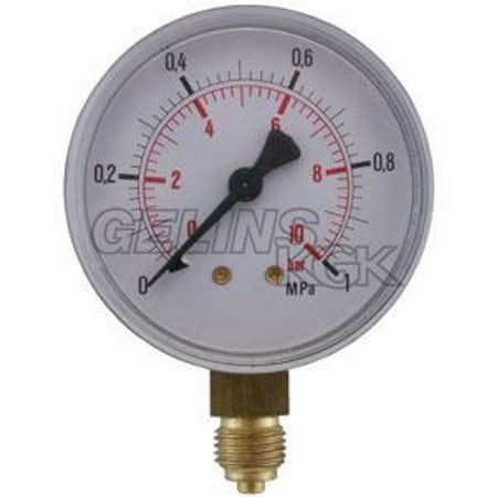 "MANOMETER 1/4"" 10 BAR 63MM NER"