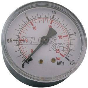 "MANOMETER 1/4"" 25 BAR 63MM BAK"