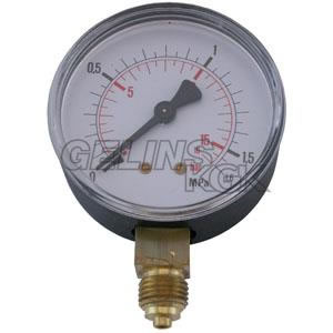 "MANOMETER 1/4"" 16 BAR 63MM NER"