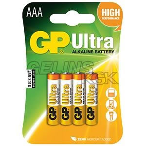 BATTERI GP AAA/4-PACK BLISTER