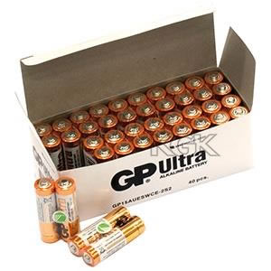 BATTERI GP AA/40-PACK BULK