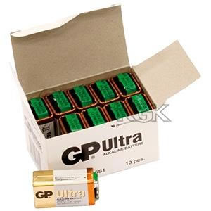 BATTERI GP 9V/10-PACK BULK