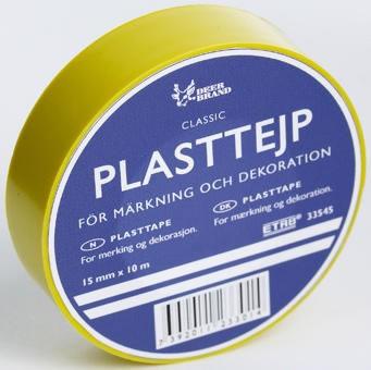 Plasttejp PVC 33545 15mmx10m