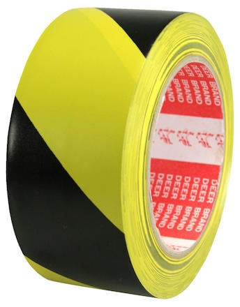 Varningstejp PVC 50mmx33m