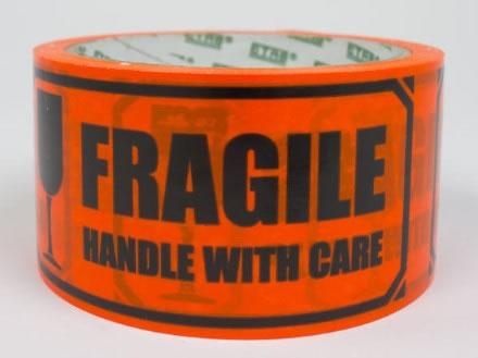 Tejp med tryck Fragile 50mmx33m