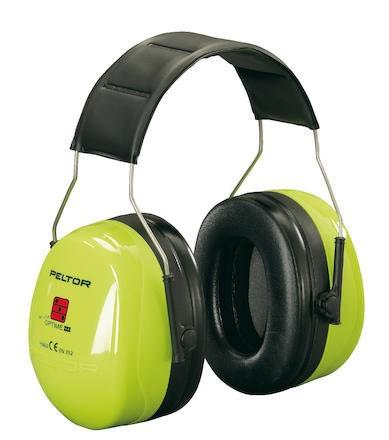 Hörselkåpa hjässbygel Peltor Optime III Hi-Vis H540A