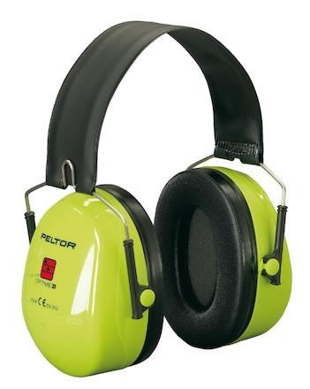 Hörselkåpa hjässbygel Peltor Optime II Hi-Vis H520F