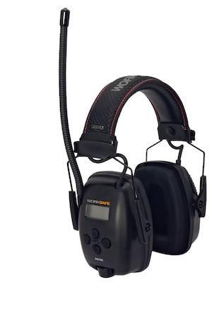 Hörselkåpa hjässbygel Worksafe Radio 2.0