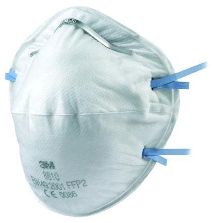 Filtrerande halvmask 3M 8810F klass FFP2 NR D.
