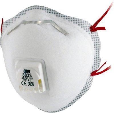 Filtrerande halvmask 3M 8833F klass FFP3 R D-V