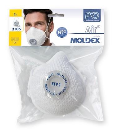 Filtrerande Halvmask Moldex 3105-11 FFP2 NR D-V 2st/fp