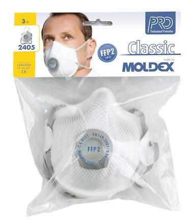 Filtrerande halvmask Moldex 2405-12, FFP2 NR D med 3st/frp