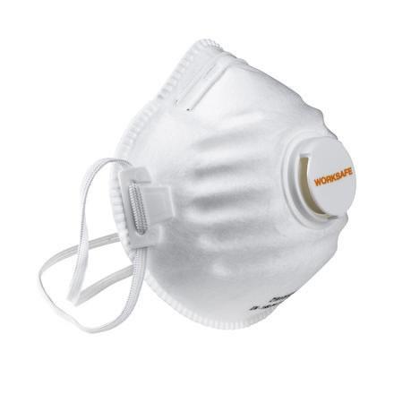 Filtrerande halvmask 5st/frp FFP2 med ventil Worksafe
