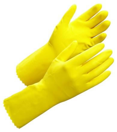 Latexhandske flockad Worksafe Clean 50-602