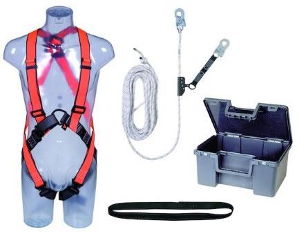 Fallskyddspaket Worksafe Tak 1 med 15m rep med replås