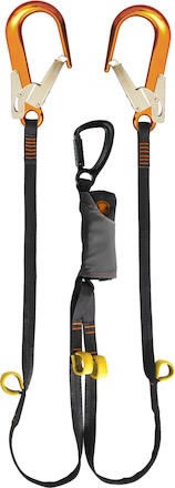 Falldämparlina Skysafe Pro Tieback 2x1,8m Räddningsloop