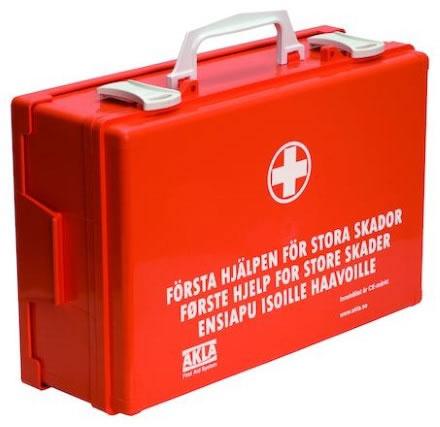 Första hjälpen låda Akla 91166 f stora skador