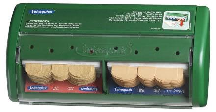 Salvequick plåsterautomat m plast & textilplåster