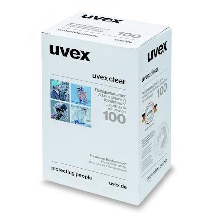 Rengöringsservetter uvex 9963.000 glasögon 100/frp