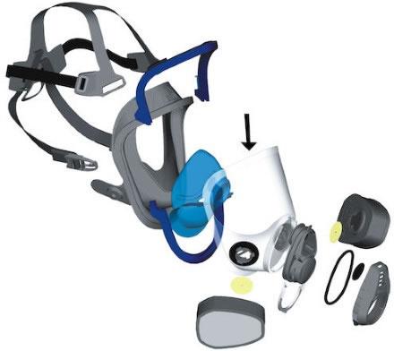 Siktskiva t helmask Advantage 410403
